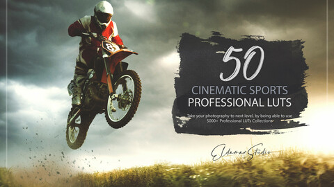 50 Cinematic Sports LUTs and Presets Pack