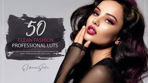 50 Clean Fashion LUTs and Presets  Pack