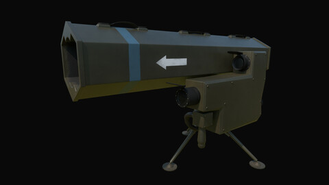 MSS12 Game-ready Lowpoly PBR Textured Weapon 3D Model