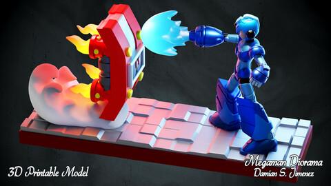 Megaman Diorama - 3D printable diorama