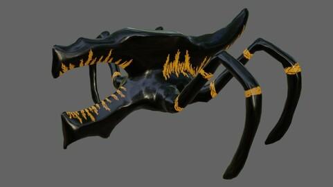 Alien Bug Low-poly 3D model