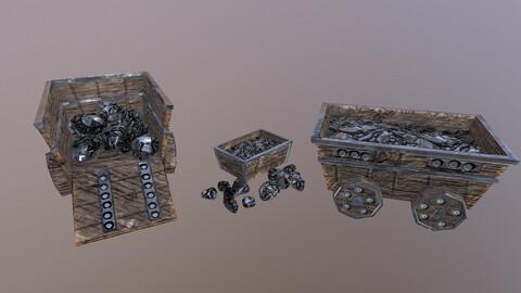 Iron Mine Cart 3D Model