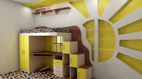 Picture of furniture for a children's room.