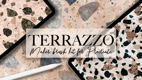 Terrazzo brushes for Procreate