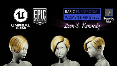 Leon Scott Kennedy Grooming Real-Time Hairstyle Unreal Engine 4