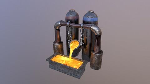 Mine Boiler 3D Model