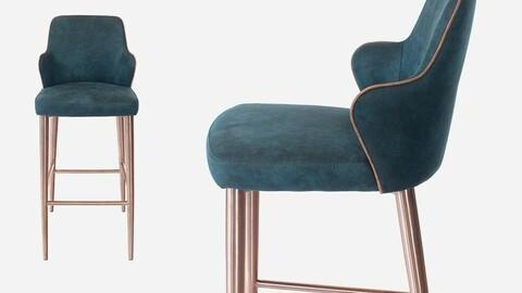CH1133 Peelwell Swansea Fabric Home Bar Chair DVX