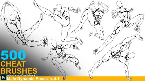 500 Cheat Brushes Male Dynamic Poses