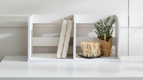 Simple 48cm 1 tier bookshelf