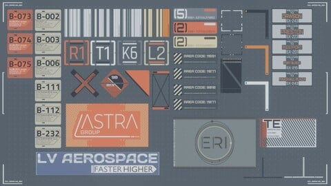 [Free] Sci-fi decals and labels