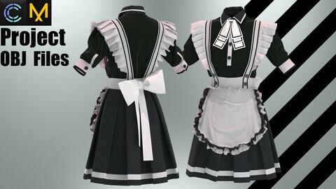 Wonderful maid outfit (MD/Clo3D Zprj & OBJ)