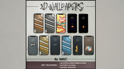 3D DESIGN WALLPAPERS + BONUS WALLPAPER