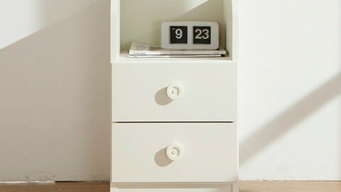 Modern Steel 2 Tier Chest of drawers