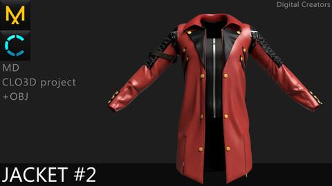 Jacket #2 / Marvelous Designer / Clo 3D project + obj