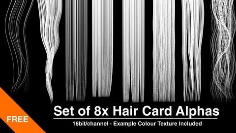 8x Hair Card Alphas