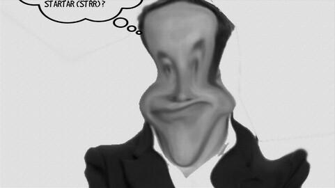 Christiano ronaldo caricature et elon musk