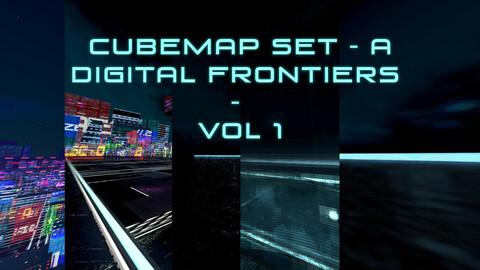 Cubemap Skybox Set A - Digital Frontiers Vol 1 - HDRI - For Game Dev & Media