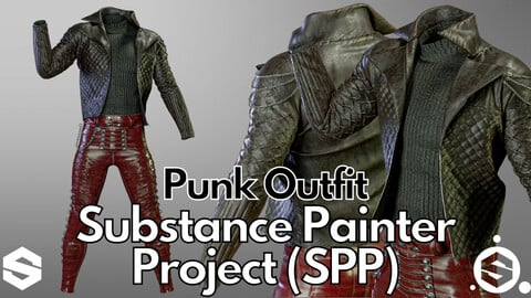 Substance Painter (.SPP) : Punk outfit