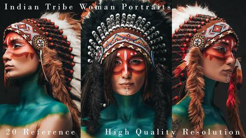 Indian Tribe Woman Portraits Vol 2