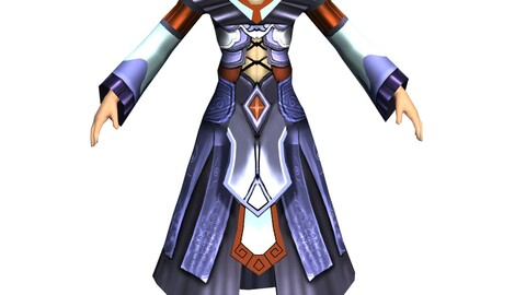 Game 3D Character - Male Mage 03