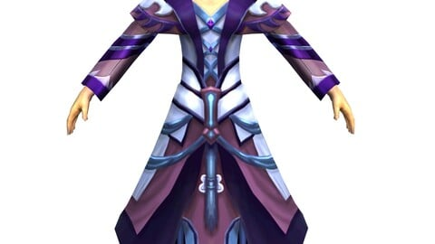 Game 3D Character - Male Mage 04