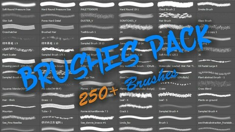 MEGA Brushes Pack Vol - 1 (All-In-One Edition) 1000+ Brushes