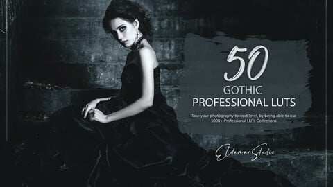 50 Gothic LUTs and Presets Pack