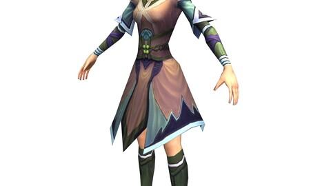 Game 3D Character - Female Taoist 02