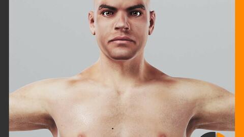 Human Male Body Textured - Anatomy