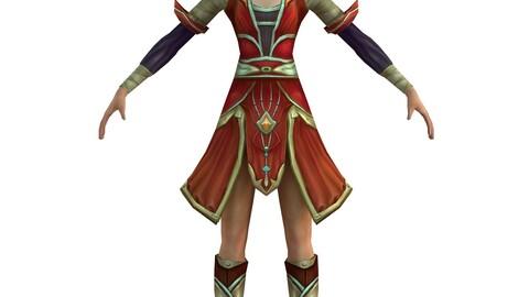 Game 3D Character - Female Taoist 03