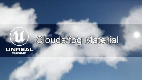 Unreal Engine clouds/fog material (volumetric + cards)
