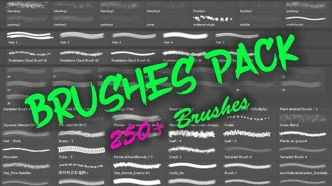 MEGA Brushes Pack Vol - 3 (Portrait Special Edition) 1000+ Brushes
