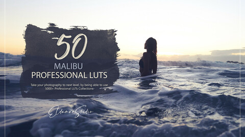 50 Malibu LUTs and Presets Pack