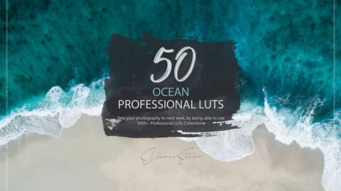 50 Ocean LUTs and Presets Pack