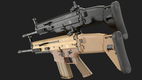 FN SCAR-H (17S) FDE / Black Noir (Game Ready)
