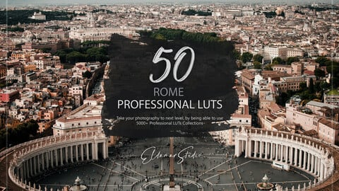 50 Rome LUTs and Presets Pack