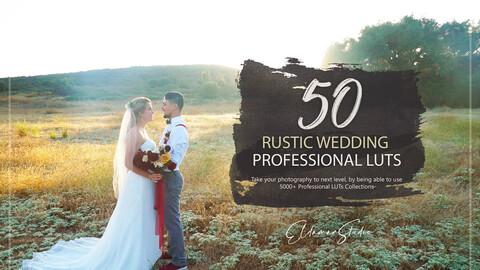 50 Rustic Wedding LUTs Pack