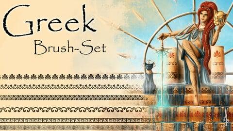 Greek Themed Brush/Pattern Set