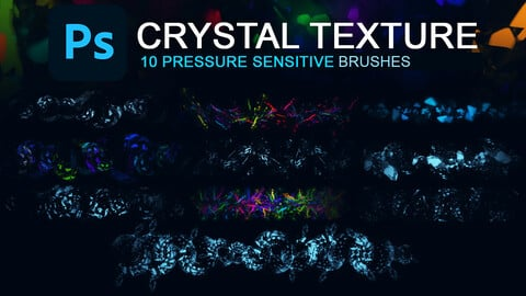 10 crystal texture photoshop brushes