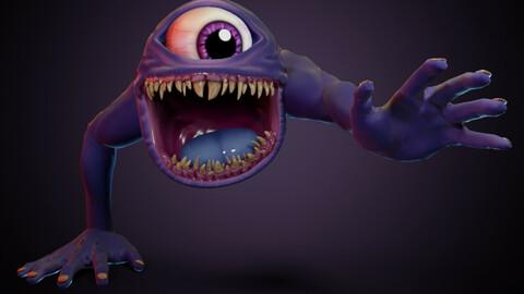 Eyeball creature - Free Rig