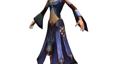 Game 3D Characters - Female Faw 03