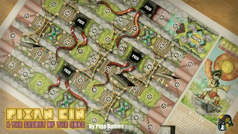 Pixan Bin & the secret of the Gods - Pozos y lianas (juego de mesa descargable)