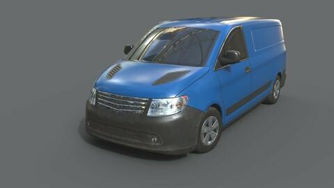 Generic Minivan Blue