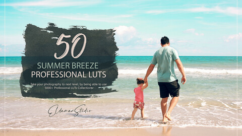 50 Summer Breeze LUTs and Presets Pack