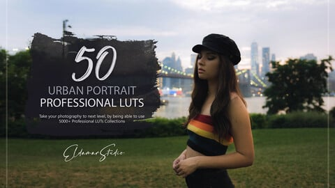 50 Urban Portrait LUTs and Presets Pack