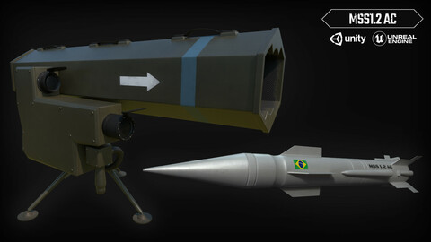 MSS1.2 Game-ready Lowpoly PBR Textured Weapon 3D Model