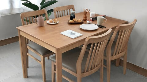 Legend 4 seater wooden dining table set chair type 1300