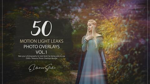 50 Motion Light Leaks Photo Overlays - Vol. 1