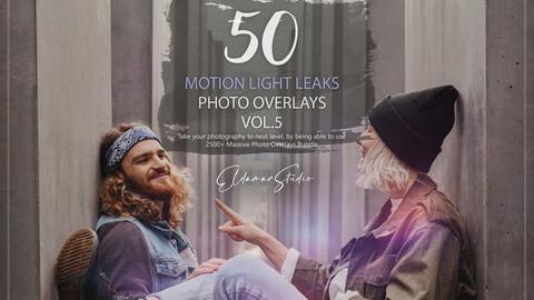50 Motion Light Leaks Photo Overlays - Vol. 5