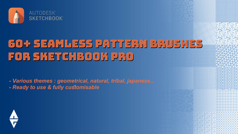 60+ SEAMLESS PATTERN BRUSHES for Sketchbook Pro